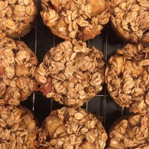 oaty apple cakes